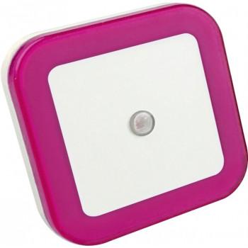 ASD/InHome Ночник сд NLE 03-SP-DS КВАДРАТ розовый с датчиком освещения 230V 8774