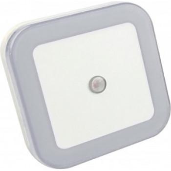 ASD/InHome Ночник светодиодный NLE 03-SW-DS КВАДРАТ белый с датчиком освещения 230V 8781