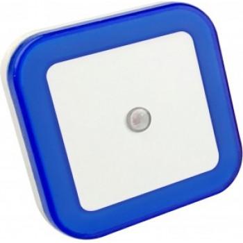 ASD/InHome Ночник светодиодный NLE 03-SB-DS КВАДРАТ синий с датчиком освещения 230V 8798