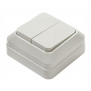 ASD/InHome BOLLETO выключатель ОУ 2 кл. 10А бел. (пласт. осн.) 7023