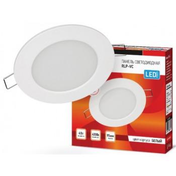 ASD/InHome светильник встраиваемый светодиодный даунлайт RLP-VC 6W(420lm) 4000К 4K d95 белая (без пульсации) IP40 3342