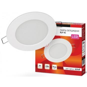 ASD/InHome светильник встраиваемый светодиодный даунлайт RLP-VC 6W(420lm) 6500К 6K d95 белая (без пульсации) IP40 4516