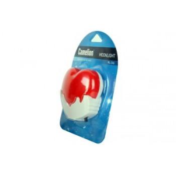 Camelion NL-246 ночник светодиодный 0.5W 70x65x60 Сердце, 220V, пластик/выкл.