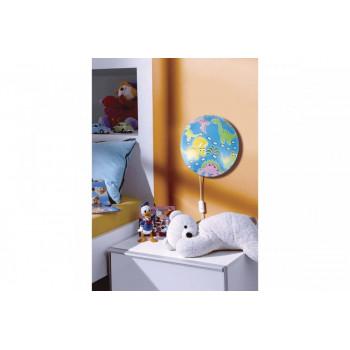 """Camelion светильник светодиодный детский накладной """"Динозаврики"""" 18W(1440lm) 4500K d=330мм, провод 1,5м LBS-7725"""