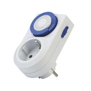 SmartBuy таймер розеточный SBE-STM2 механич. 3600W 48 вкл./выкл. сутки, интервал 30 мин