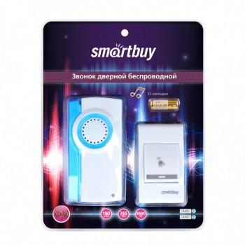 SmartBuy звонок дверной беспроводной цифр. 100м,32 мелодии, 2xAAA/A23 с кнопкой белый SBE-11-DP2-32