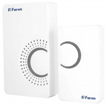 Feron E-373 звонок IP20 36 мелодий электрический дверной, белый, серый 23686