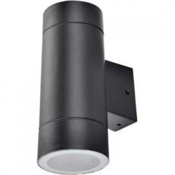 Ecola 2xGX53 8013A светильник прозр. Цилиндр Пластик Черный IP65 205x140x90 PB53C2ECH