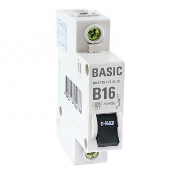 EKF Basic автоматический выкл. ВА47-29 1P 6А хар-ка B 4,5кА mcb4729-1-06-B