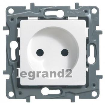 Legrand Etika механическая розетка СУ 1 мест. бел. 672220