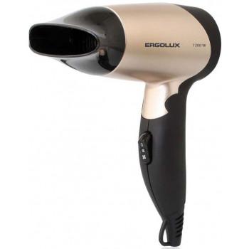 Фен со складной ручкой ERGOLUX ELX-HD01-C64 1200W, 220-240V черный/золото