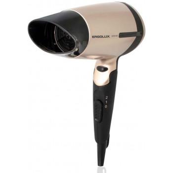 Фен со складной ручкой ERGOLUX ELX-HD02-C64 1600W 220-240V черный/золото