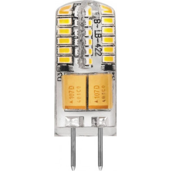 Лампа светодиодная Feron G4 12V 3W(240lm 270°) 4000K 4K прозрачная 38x11, LB-422 25532