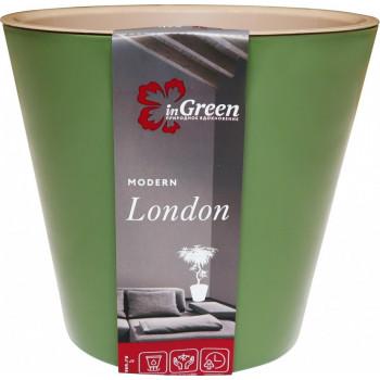 Горшок для цветов London D=230мм (5л) олива ING6206ОЛ, InGreen