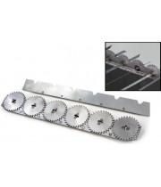 """Вертел """"Большой Шашлычник"""" для вращения шампуров 570мм (8 пластин) сталь, для мангала Кедр ВШ-8"""