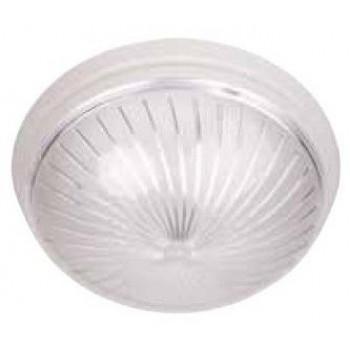 HOROZ УФО ЗАГРЕП светильник настенно-потолочный E27 пластик.белый d230х82,5мм (уп.5шт.,цена за 1шт.) 400.003.101