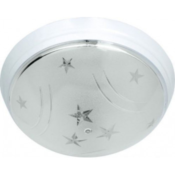 HOROZ УФО СТАР светильник настенно-потолочный E27 пластик. белый d230х82,5мм (уп.5шт.,цена за 1шт.) 400.022.101
