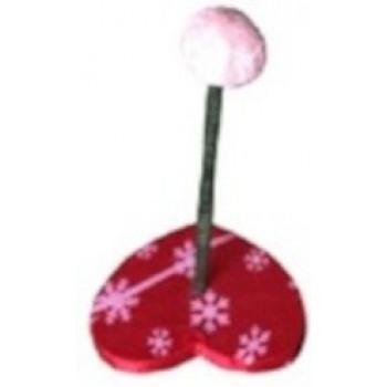 Игрушка для кошек дразнилка Сердце с шариком, 15х15х24см, CF7023