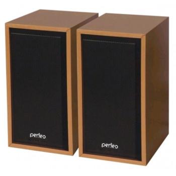 """Perfeo колонки """"Cabinet"""" 2.0, мощность 2х3 Вт (RMS), бук дерево, USB (PF-84-WD)"""