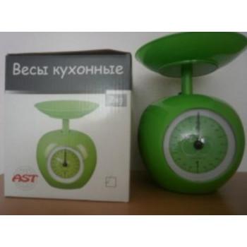 Весы кухон.механич. AST KS-09, до 2кг, деление 20гр, емк яблоко