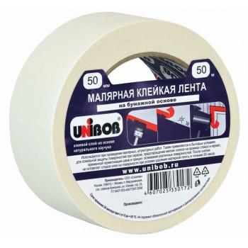 Малярная лента (крепп скотч) 50/50 UNIBOB арт.28139