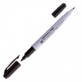 "Crown Маркер перманентный 2-сторонний""Multi Marker Twin""P-800W черный,2мм/1мм, отгр.кр.12шт,шк005917"