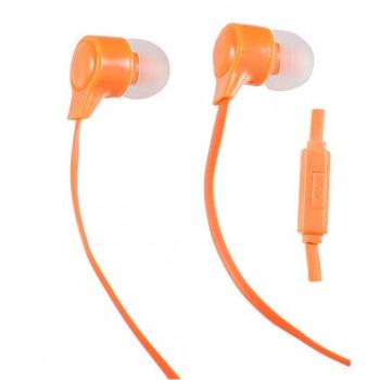 Perfeo Мобильная стерео гарнитура HANDY, плоский провод 1.2 м, оранж, Jack 3.5 (PF-HND-ORG)