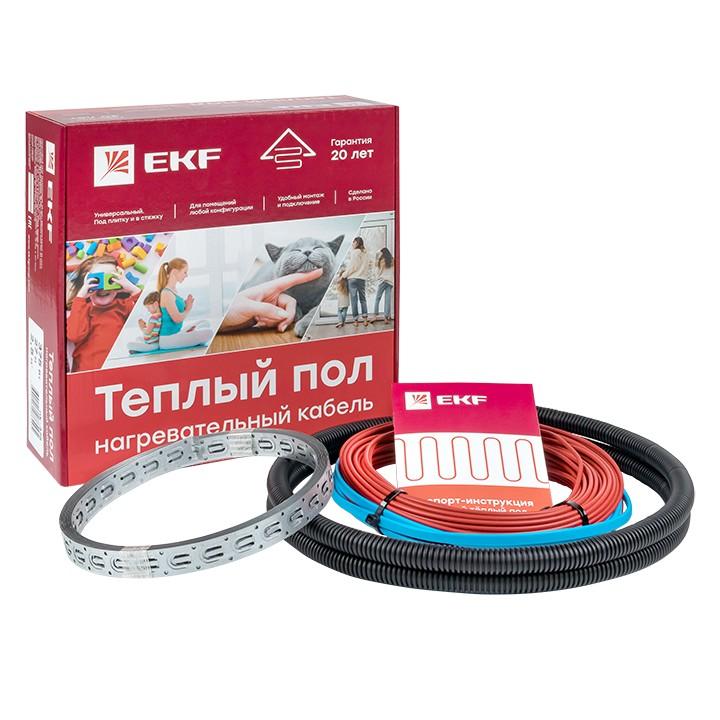 EKF PROxima кабельный теплый пол (нагр. секция) S=1.0м2 150Вт 10 м (гофр.тр.,шнур 2м) 20лет nk-150