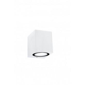 General светильник уличный, садовый, фасадный 1xMR16 прозр.квадрат металл белый IP65 180x80 661125