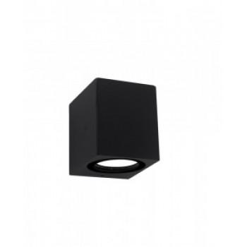 General светильник уличный, садовый, фасадный 1xMR16 прозр.квадрат металл черный IP65 80x80 661124