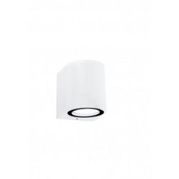 General светильник уличный, садовый, фасадный 1xMR16 прозр.круглый металл белый IP65 80x80 661127