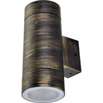 Ecola 2xGX53 8013A светильник прозр. Цилиндр Пластик Черненая Бронза IP65 205x140x90 PN53C2ECH