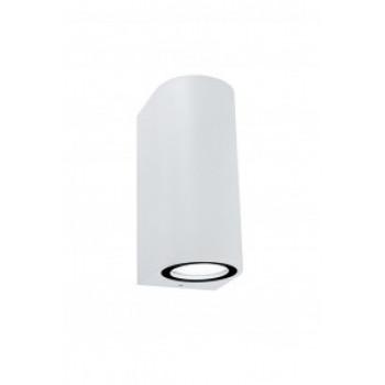 General светильник уличный, садовый, фасадный 2xMR16 GU10 прозр.круглый металл белый IP65 150x80 661123