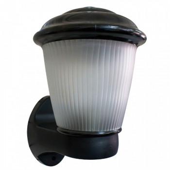 Фонарь 2а светильник бра декоративный садово-парковый 60W E27 прозеткамат. стекло, корпус пласт. черный (РФ)