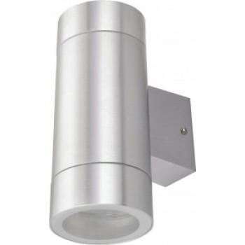 General светильник уличный, садовый, фасадный 2xGX53 прозр.цилиндр металл хром IP65 205x90x140 661130
