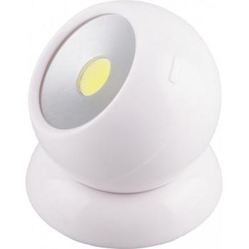 Feron светильник светодиодный поворотный 1LED 3W(100lm) 75x80 белый (без 3xR03) FN1209 23380