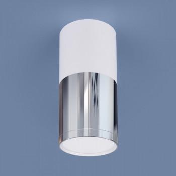 ES DLR028 светильник светодиодный накладной 6W(420Lm) 4200K 4K белый матовый/хром/хром 68x143 a040665