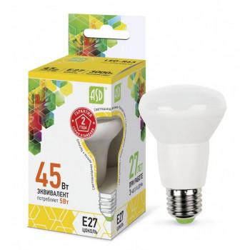 Лампа светодиодная ASD R63 E27 5W 3000K 2K 104x63 пластик/алюм standard 1579