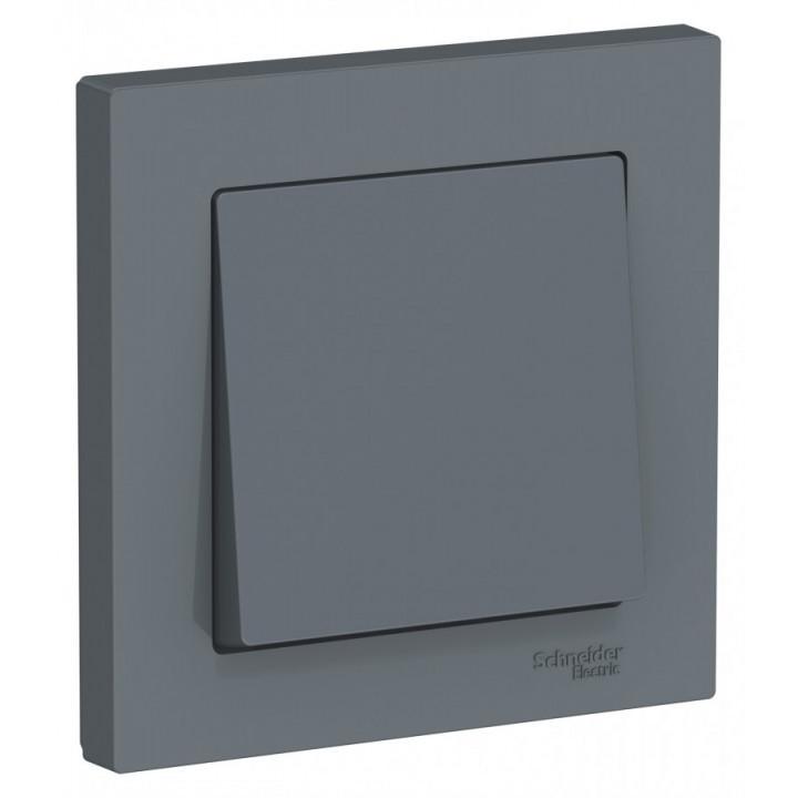 Schneider AtlasDesign выключатель СУ 1 кл. грифель (пласт. осн.) ATN000712