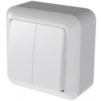 Кунцево-Электро ОПТИМА выключатель ОУ 2 кл. 10 А бел. изол. пластина, АБС-пластик А510-380