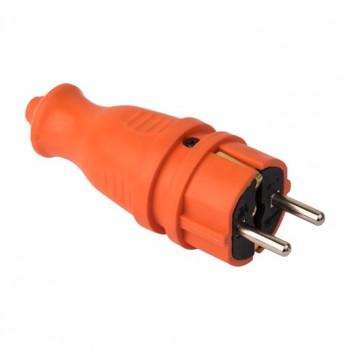 EKF PROxima вилка прямая каучук 2P+PE 1x16A IP44 оранж. RPS-011-16-230-44-ro (Турция)