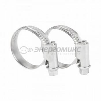 REXANT метал. хомут (углерод. сталь) червячный 16-27 цена за шт (50!), 07-0616