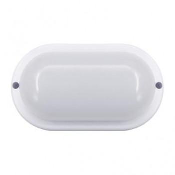 ASD/InHome светильник светодиодный ЖКХ СПП-ОВАЛ 12W(960lm) 6500К 6K h168x92х48 (белый, пластик) IP65 1361