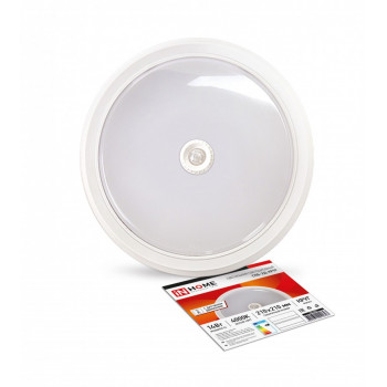ASD/inHome светильник светодиодный ЖКХ СПБ-2Д 14W(1100lm) 4000К 4K 210х43 круг, пласт, белый с дат движ. IP40 0693
