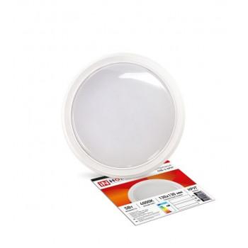 ASD/inHome светильник светодиодный ЖКХ СПБ-2 5W(400lm) 4000К 4K круг, пластик, белый 130x33 IP40 0624