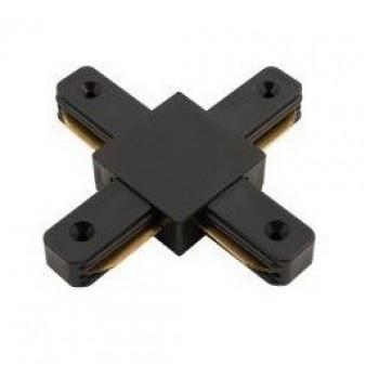 General Коннектор для шинопровода Х- образный 1-фазный G-1-TXT-IP20-B черный, 580933