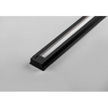 Feron Шинопровод для трековых светильников черный 2м (в наборе токовод заглушка крепление) CAB1003 10341