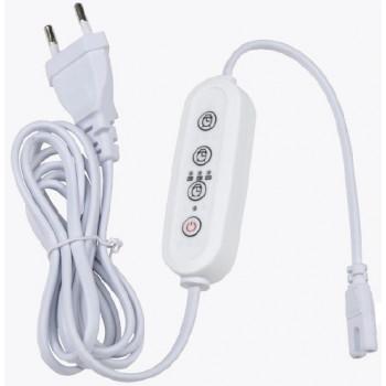 Uniel таймер с вилкой и разъемом L,N для фитосвет-ков 220V 150W, провод 2м UST-E32 WHITE 2M