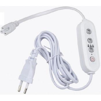 Uniel таймер с вилкой и разъемом L,N,G для фитосвет-ков 220V 150W, провод 2м UST-E33 WHITE 2M