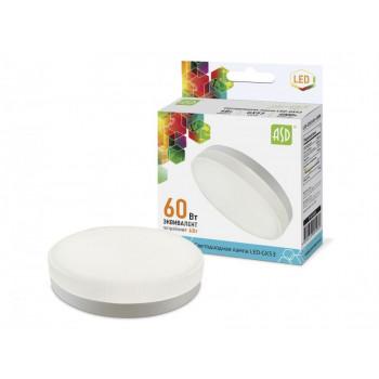 Лампа светодиодная ASD GX53 6W 4000K 4K 74x29 рифл. стекло пластик standard 5089